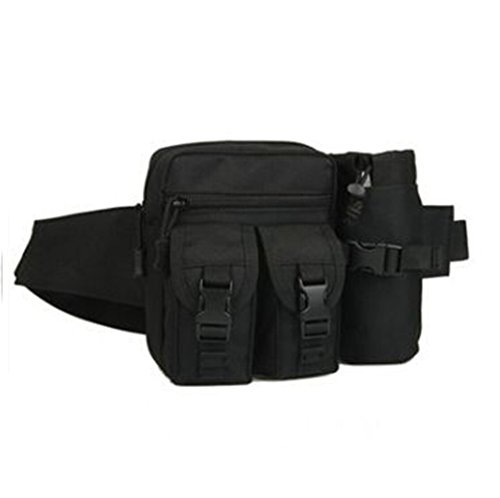Outdoor Gürteltasche Bauchtasche Hüfttasche Nylon Tasche Sporttasche Frautasche (Schlamm Farbe) Schwarz