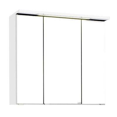 Held Möbel 010.1.0001 3D Spiegelschrank 70, Holzwerkstoff, weiß, 20 x 70 x 66 cm