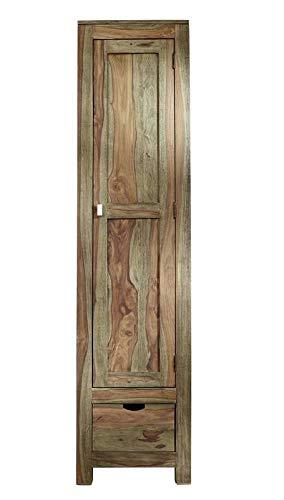 MASSIVMOEBEL24.DE Palisander Massivholz Schrank 1-TRG. Sheesham Holz Möbel Nature Grey #98