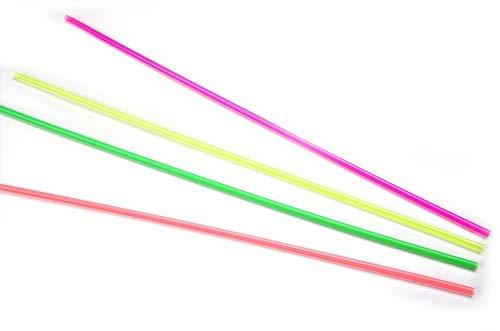 Trinkhalm aus Plastik in Neonfarben, farbig sortiert, Ø 6,5 mm / 100 cm, 100 Stück