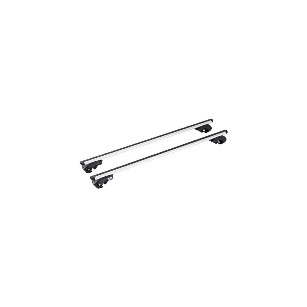 Grigio Menabo 000015100000 Barre da Tetto Dozer XL per Auto con Railing Aperti 135 cm Set di 2