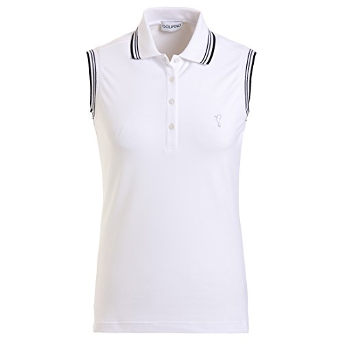 golfino-ladies-sun-protection-sleeveless-striped-collar-white-m