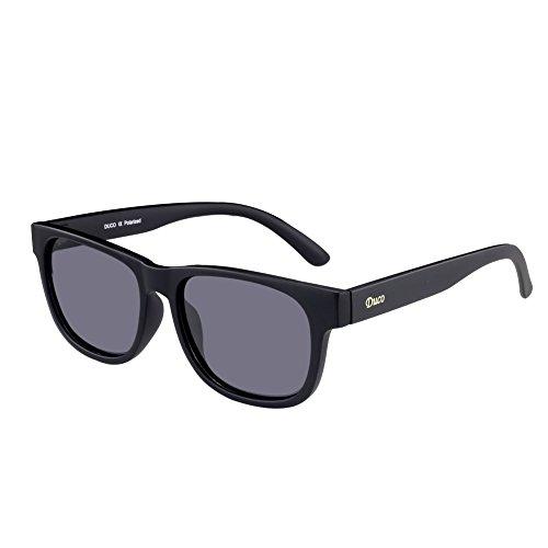 DUCO Retro-Klassiker Wayfarer Sonnenbrille TR90 polarisierte Sonnenbrille UV400 2142