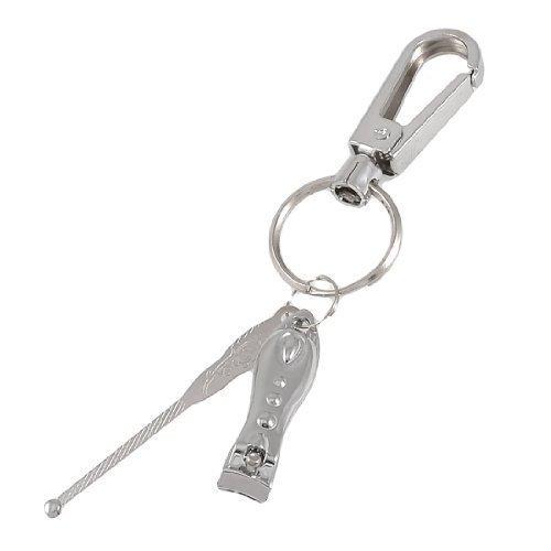 pedicure-piatto-tagliaunghie-pulitore-dellorecchio-earpick-chiusura-w-catena-chiave