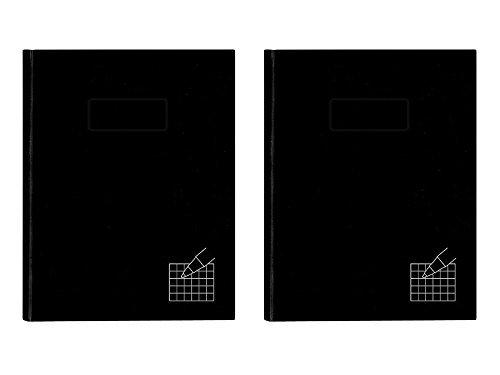 Set von 2Blueline 192Seiten Quad liniert 23,5x 18,4cm Business Notebook gebündelt von Maven Gifts