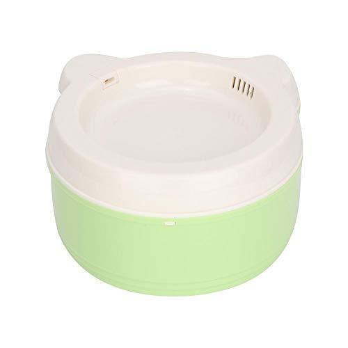 Minnya Trinkbrunnen für Haustiere Trinkbrunnen für Haustiere USB Automatischer elektrischer Wasserspender Wasserschale für Katzen und Hunde (Grün) - Brunnen Wasserschale Hund