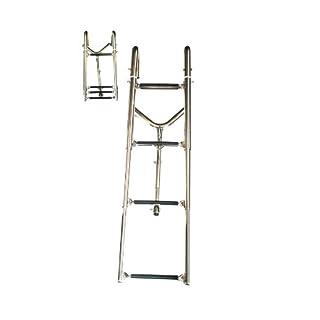Arbo-Inox Einstiegsleiter Badeleiter Bugleiter Einhängen drehbare Arme 4 Stufen V4A