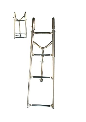 Dock edge échelle de baignoire à suspendre badeplattform échelle de piscine 4 marches v4A aRBO-iNOX