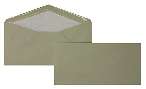 Blanke Briefhüllen - 100 Briefhüllen im Format 110 x 225 mm in Grau gerippt