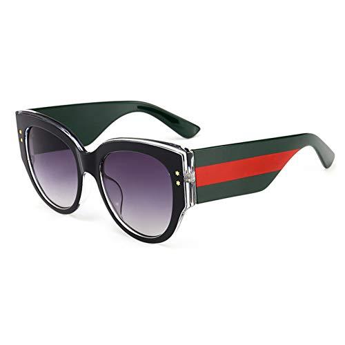 Siwen Neue über größe mischfarbe Bein Frauen cat Eye Sonnenbrille männer gradientenlinse gläser uv400,Schwarzgrau