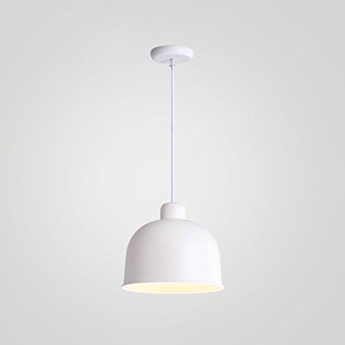 Moderne Éclairage Restaurant Lustre Bar Lustre Creative Bar Simple Tête Personnalité Fer Couleur LED Lustre ZHJING (Couleur : Blanc)