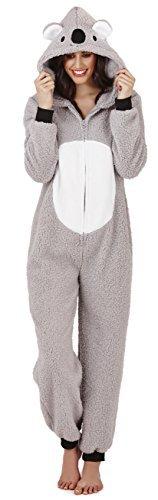 Loungeable Damen Onesie 3D Ohren Schlafanzug - Kiki Koala