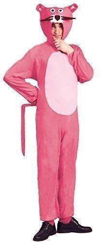 Herren Damen Pink Panther 1970s Animal Cartoon Film Fest Kostüm Kleid Outfit Größe L