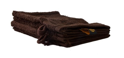 Gözze lot de 4 gants de toilette moka, 17x24 cm, 100% coton, excellente qualité 550 g/m², moelleux et utra doux Standard 100