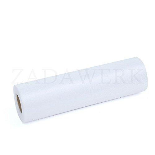 ZADAWERK® Organza - 30 m x 28 cm - Weiß - 1 Rolle - Deko - Meterware Organzastoff als Tischläufer