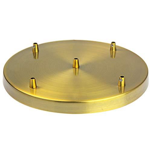 Girard Sudron Lampen Baldachin Metall 5-fach (5 Kabelauslässe) gold Ø 30 cm