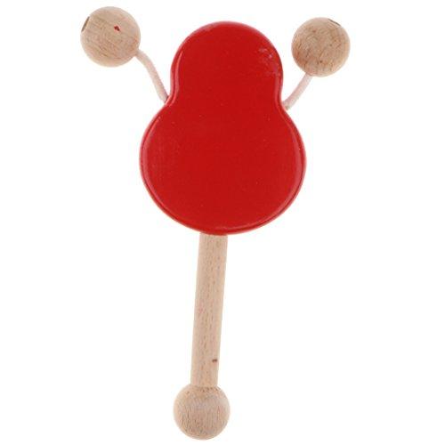 F Fityle Hölzerne Babyrassel Trommel Montessori Pädagogisches Spielzeug (Hölzerne Trommel)