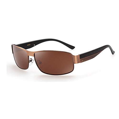 Thirteen Mode Sonnenbrillen Male Driver Driving Mirror Polarized, UV400, Sonnencreme, Für Eine Vielzahl Von Gesichtstypen Geeignet, Um Gegen Klare Sicht Zu Kämpfen. (Farbe : Tea box)