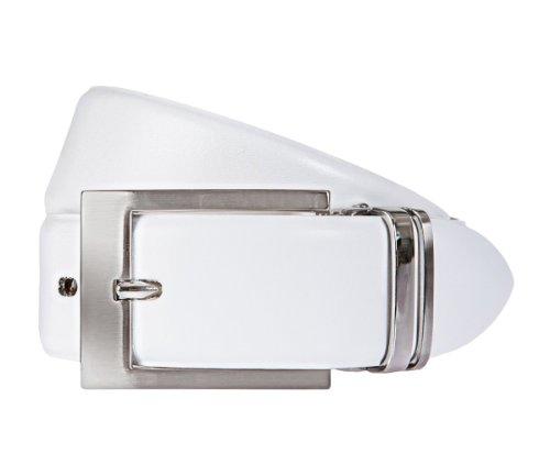 LLOYD Men's Belts Gürtel Leder Herrengürtel Ledergürtel Weiß 6680, Länge:90 cm, Farbe:Weiß