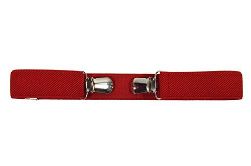 Olata Kinder 1-4 Jahre Elastischer Schnalle Frei Gürtel, voll einstellbar mit Clips - Rot