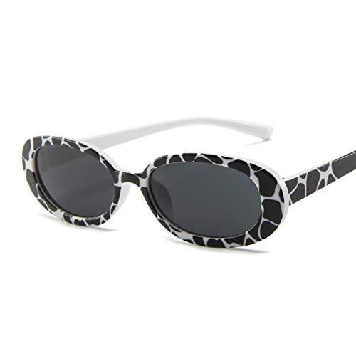 MOJINGYAN Sonnenbrillen,Kühe Farbe Stil Ovale Sonnenbrille Frauen Vintage Retro Runden Rahmen Mens Sonnenbrille Weiblichen Schwarzen Hip Hop Klare Gläser Uv 400