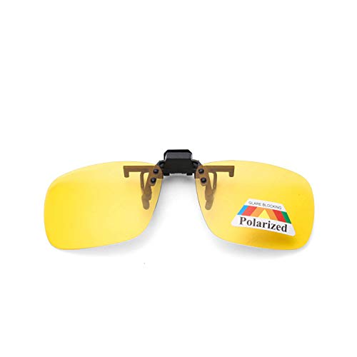 FGRYGF-eyewear2 Sport-Sonnenbrillen, Vintage Sonnenbrillen, NEW Männer Clip On Sunglasses Polarized Brand High Quality UV400 Driving Night Vision Clip Glasses #CG9103T yellow3