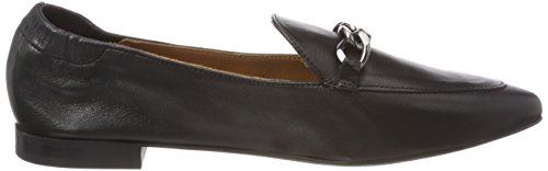 Bianco Dress Chain Loafer, Mocassins Femme Schwarz (Black)
