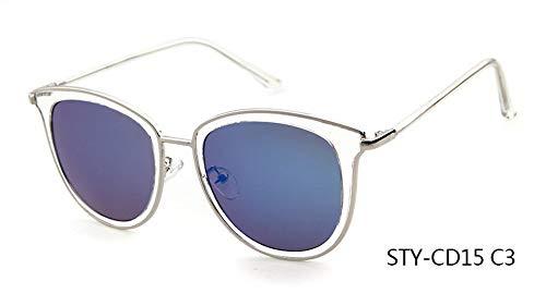 Sonnenbrille,Neueste Sonnenbrille Frauen Design Cat Eye Sonnenbrille Spitze Frames Party Blau