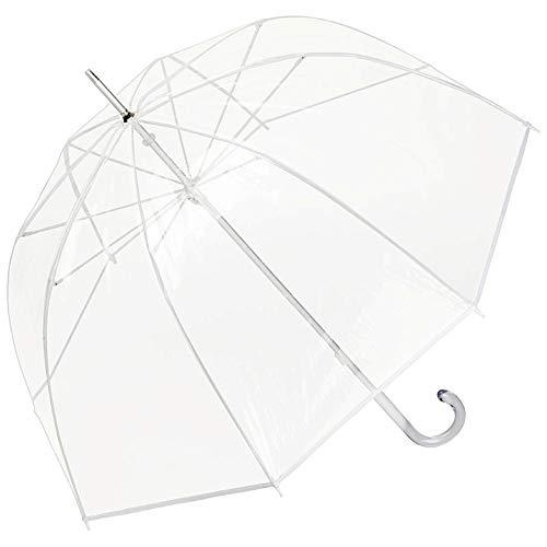 VON LILIENFELD Regenschirm Stockschirm Transparent Durchsichtig Damen Herren Melina weiß