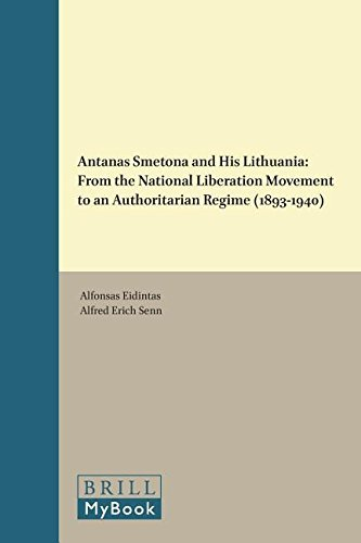 Antanas Smetona and His Lithuania (On the Boundary of Two Worlds) by Alfonsas Eidintas (2015-09-03)