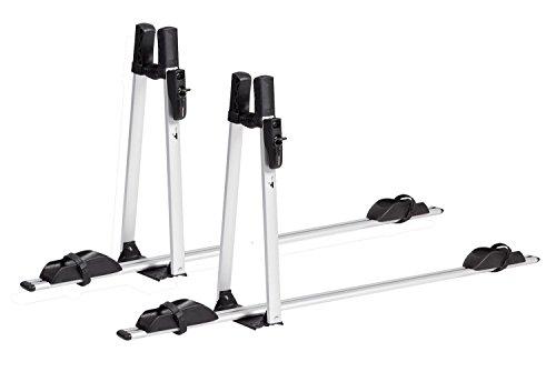 VDP Fahrradträger ALU Premium Dach Fahrradhalter Fahrrad Dachfahrradträger abschließbar (2x Fahrradträger)