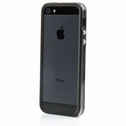 XAiOX - iPhone 5s 5 Bumper Schutzhülle in transparent schwarz schwarz