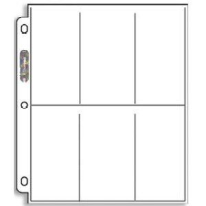 Ultra Pro Platinum Series 6-Pocket Coupon Storage Page (Package of 20 Vertical Pages) by Coupon Holders