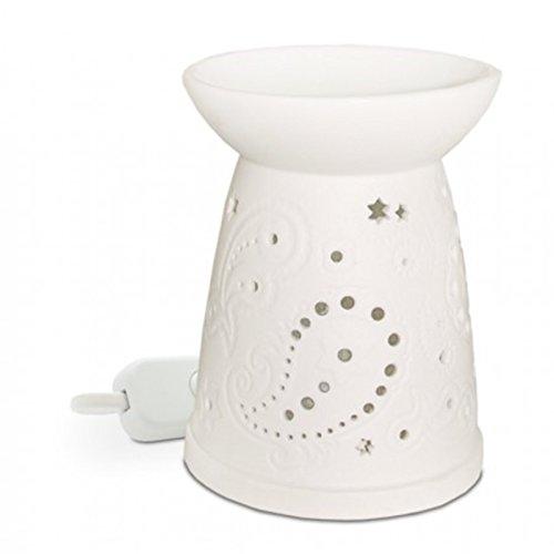 Heart & Home PAISLEY Elektrische Wax Melt Wärmer keine Notwendigkeit für Teelichter Wärmer Duftlampe
