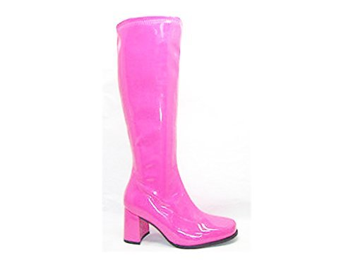 Fancy Dress Knee High Boots - Hot Pink - Size UK 4