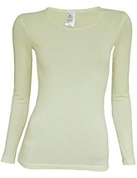 UTENOS camiseta térmica de manga larga para mujer 100% lana de merino, fabricada en la UE