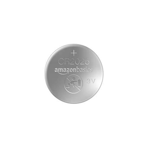 AmazonBasics - CR2025 Lithium-Knopfzelle, 2er-Packung