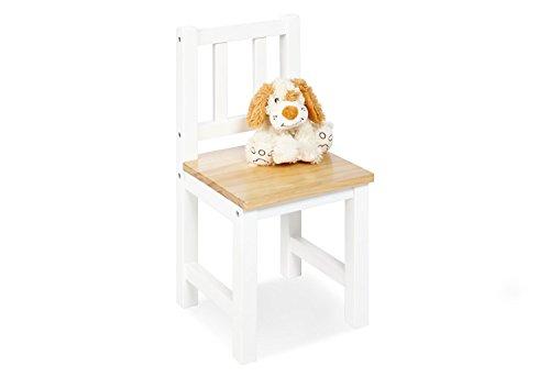 Pinolino Kinderstuhl Fenna, aus massivem Holz, Sitzhöhe 29 cm, für Kinder von 2 - 7 Jahren, weiß und klar lackiert