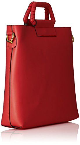 Chicca Borse Damen 8700 Schultertasche, 32x31x8 cm Rosso (Red)
