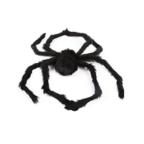 3Ciker Halloween Riesenspinne Dekorationen Schwarz Haarige bewegliche Spinne für Hof Draussen - Spider Kostüm Hunde Streich