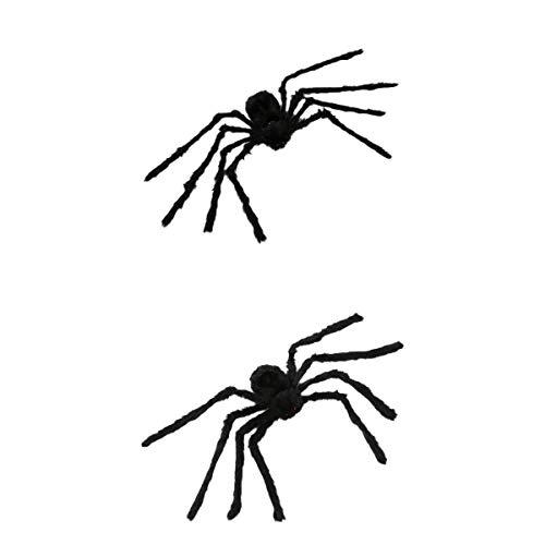 LOVIVER 2 Stücke Große Schwarze Spinne Requisiten Für Halloween Garten Hof