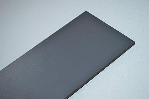 Fassadenplatte Balkonplatte HPL verschiedene Größen und Farben + Zubehör (1000 x 900 x 6 mm , graphit grau )