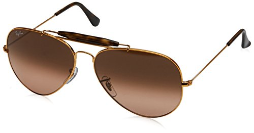 RAYBAN JUNIOR Herren Sonnenbrille Outdoorsman II, Shiny Light Bronze/Pinkgradientbrown, 62