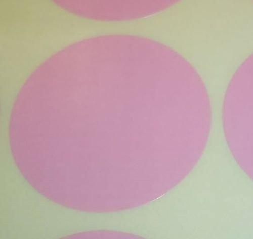 Pack Of 100 Grande 63mm Redondo / Circular Código De Color Lunares En blanco Precio Pegatinas Etiquetas - Elija Su Color/s (Rosa Claro)
