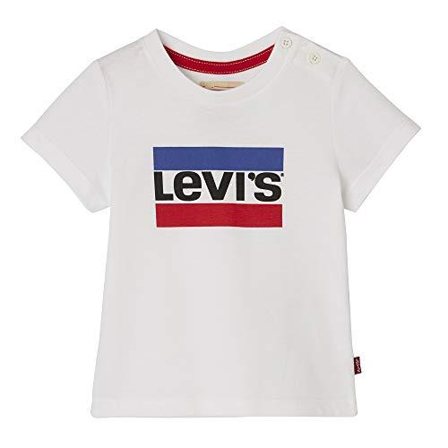 d230ebabb Levi's Kids Nn10004 01 Short Sleeve Tee-Shirt T, Bianco (White, 18-24 Mesi  (Taglia Produttore: 24M) Bimbo