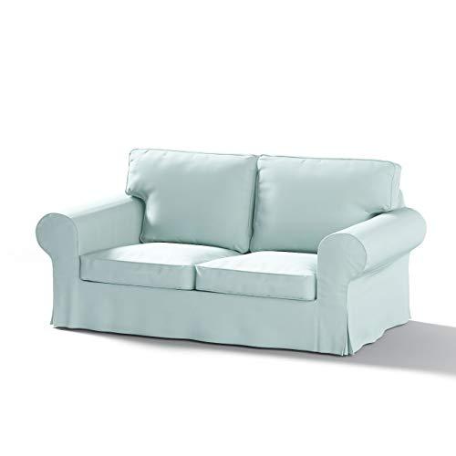 Dekoria Ektorp 2-Sitzer Sofabezug Nicht ausklappbar Sofahusse passend für IKEA Modell Ektorp hellblau