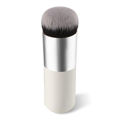 Westeng Make-up Pinsel Professionelle Runde Chubby Pier Form Powder Foundation BB Bilden Pinsel Kosmetik Werkzeug (Weiß Grau)