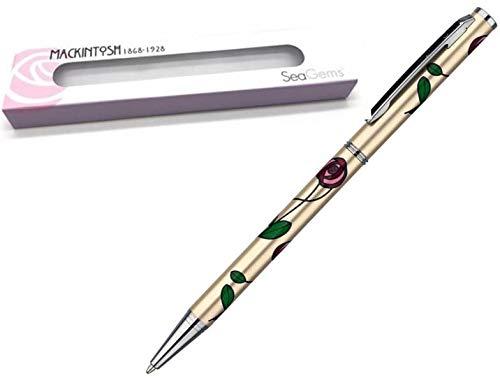 Charles Rennie Mackintosh Damen Kugelschreiber in Geschenkverpackung, Champagnerrot