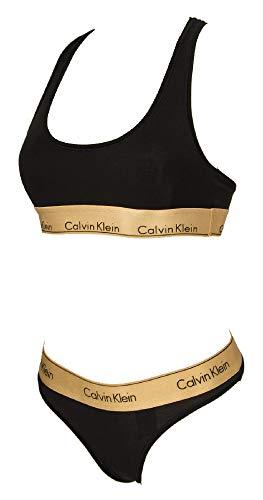 Calvin Klein Packet BH Bralette + Slip Brief Unterhose Frau Dame Sport CK Artikel QF5668E Bralette Set
