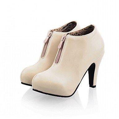 RTRY Scarpe Donna Pu Similpelle Autunno Inverno Comfort Novità Moda Stivali Stivali Stiletto Heel Round Toe Stivaletti/Stivaletti Zipper Per Party US4-4.5 / EU34 / UK2-2.5 / CN33